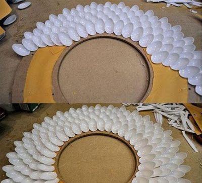 Las 25 mejores ideas sobre espejo de cuchara de pl stico for Los mejores espejos decorativos