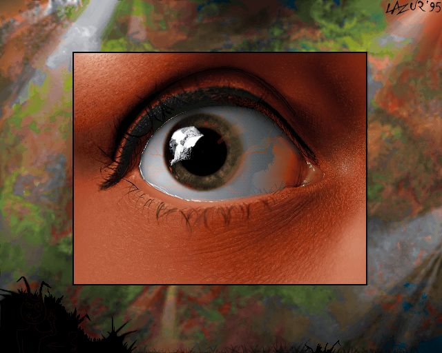 EYE - redraw from photo - pixel art from old Amiga 1200 256 color - Demoscene