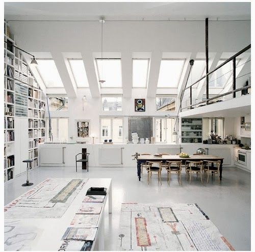 Simply gorgeous loft conversion! A top floor apartment with a mix of roof window…