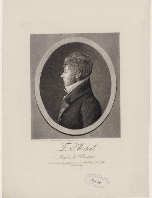 Étienne-Nicolas Méhul (1763-1817), engraving (1808), by Edme Quenedey (1756-1830).