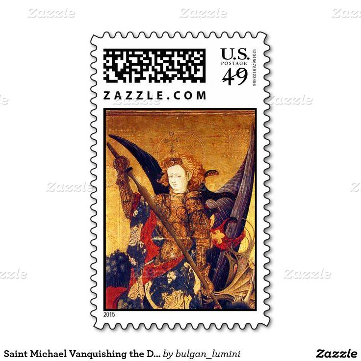 Saint Michael Vanquishing the Devil  ,detail Stamps