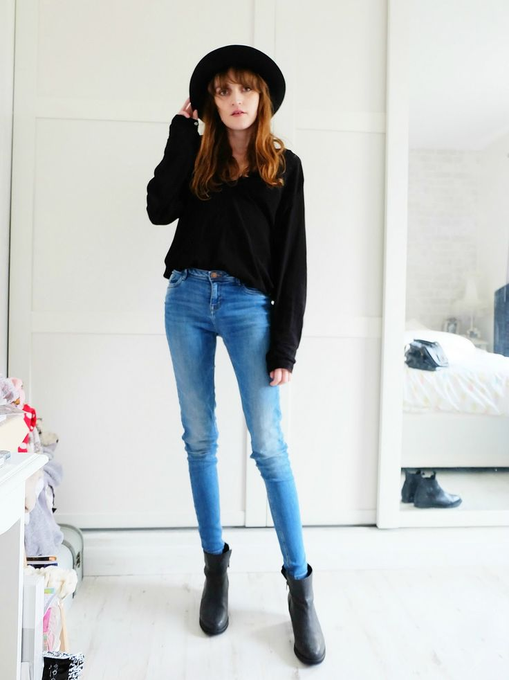 black fedora outfit