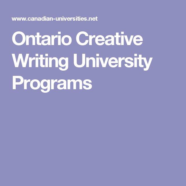 Ontario Creative Writing University Programs