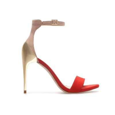 I own these in black and I love them. COMBINATION HIGH HEEL SANDAL 49.90 USD