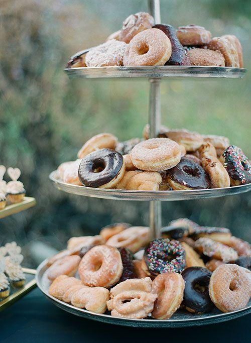 Glamorous Backyard Wedding in Calabasas, California, Donut Tower | Brides.com