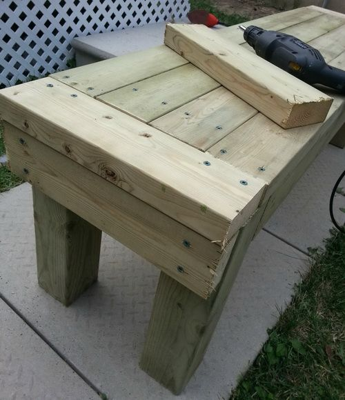 How to build patio furniture out of wood woodworking for How to build a project plan
