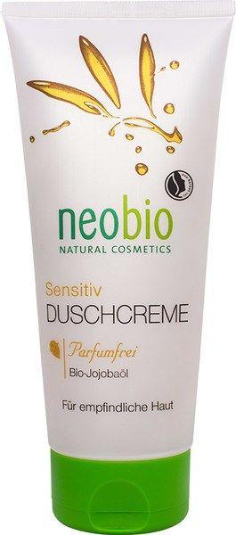 Douchecrème Neobio Na opening 6 maanden houdbaar.