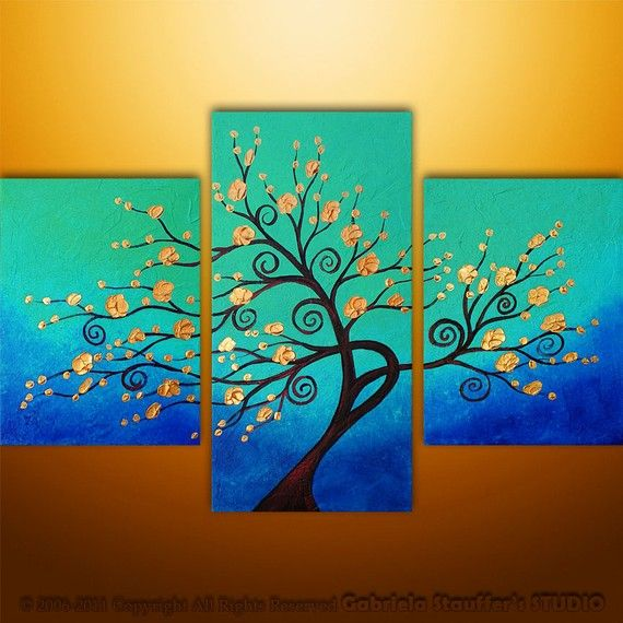 Abstract Modern Painting Landscape Asian Tree Art