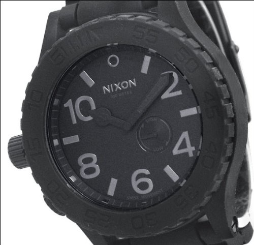 Nixon Men's Simplify Black Tide Rubber Watch $221.95 http://amzn.com/B004ZV05JQ #MenWatch