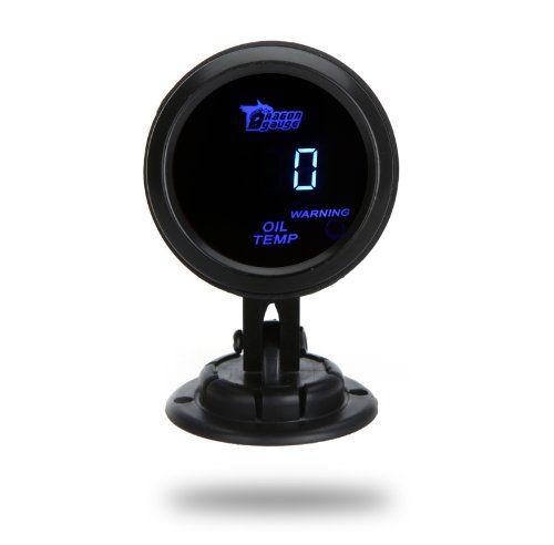 KKmoon Termómetro Medidor Digital de Temperatura Aceite Manómetro con Sensor para Auto Coche 52mm 2 Pulg LCD con Luz de Advertencia #KKmoon #Termómetro #Medidor #Digital #Temperatura #Aceite #Manómetro #Sensor #para #Auto #Coche #Pulg #Advertencia