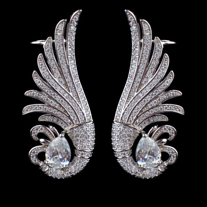 Luxury Peacock Wings Ear Cuff