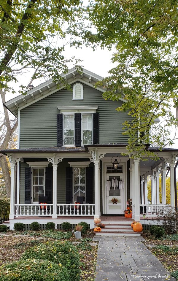 In Town Most Of The Homes Were Subtly Decked Out For Halloween