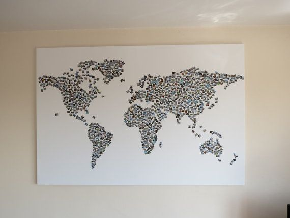 Custom Personlised Photo Collage World Map - your own personal one of a kind picture