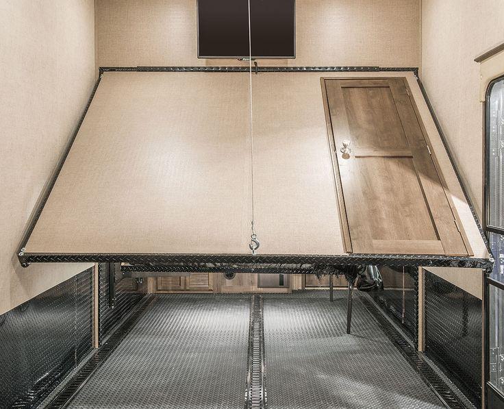 2017 K-Z RV Venom V4020DQ Fifth Wheel Toy Hauler Cargo Area Wall Up interesting floor plan