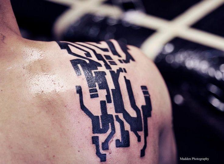 Futuristic, cyber and circuit tattoos II