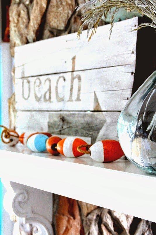 BeachMantel Love:  http://beachblissliving.com/beach-summer-mantel/