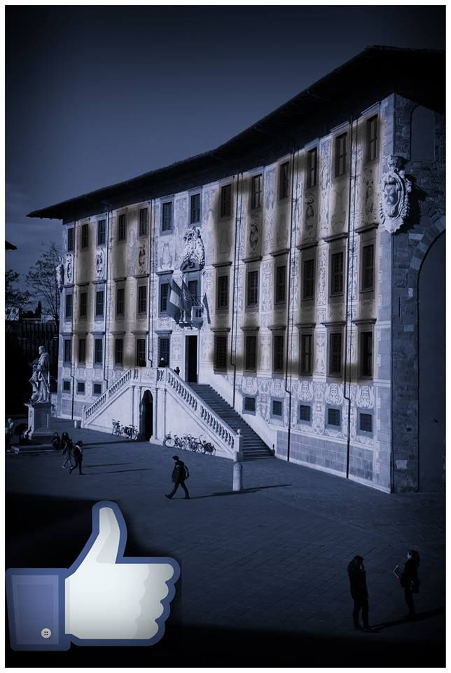 Diecimila fan su Facebook per la Scuola Normale: una elaborazione digitale negli auguri del nostro collega Giandonato Tartarelli