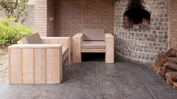 steigerhouten lounge stoel