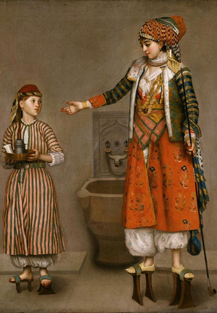 'A Frankish Woman & Her Servant', 1750 Painting by Jean-Etienne Liotard,  Swiss, 1702 - 1789  The Word 'Frankly Speaking'  also originated with these 'Frank' as extremely straight forward & blunt.   Frank :  In theMiddle Ages, the termFrankwas used in the east as a synonym forwestern European, as the Franks were then rulers of most ofWestern Europe.