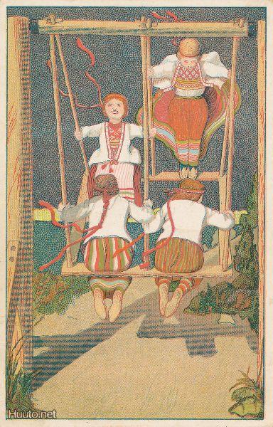 Äyrämöis Karelian folk dresses.