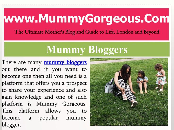 Mummy Bloggers - Best Family & Travel Blogs - UK  There are many mummy bloggers out there and if you want to become one then all…
