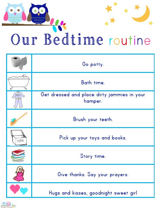 Best  Bedtime Routine Printable Ideas Only On