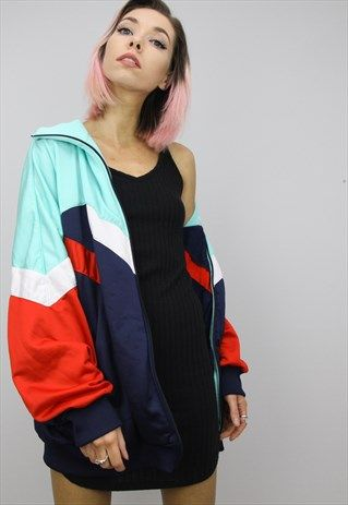 Vintage+80s/90s+Oversized+Adidas+Tracksuit+Top