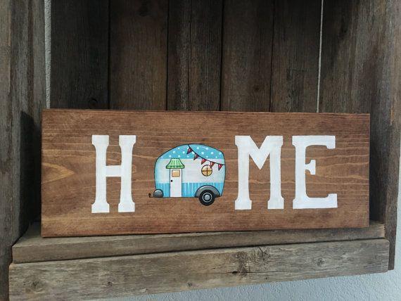Vintage Camper Camper Decor Home sign Camper Sign RV