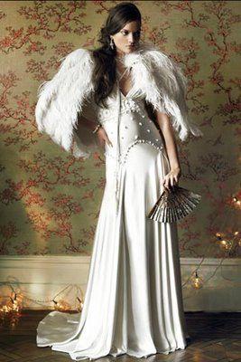 Jenny Packham- Ostrich Feather Cape