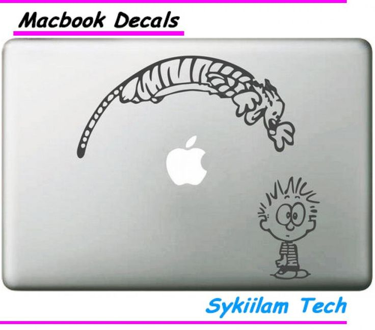 """Crystal Emotion Baby Calvin And Jumping Hobbes For Apple Sticker Macbook Skin Pro 13"""" Retina Decal Laptop Wall Car Vinyl Logo"""