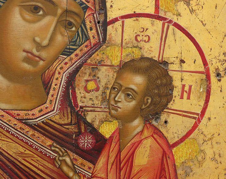 Deesis con Apostoli - Icona Russa
