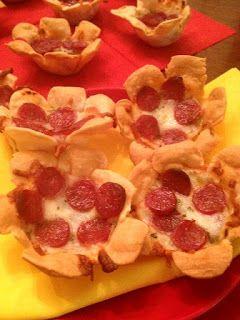 Recetas y sonrisas: FLORES DE PIZZA con obleas de empanadillas!