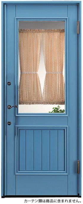 外国のカフェみたいな木製玄関ドア。日本製です。 #玄関ドア
