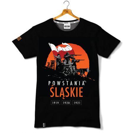 Koszulka patriotyczna Powstania Śląskie - Kolekcja Unikalna - odzież patriotyczna, koszulki męskie Red is Bad