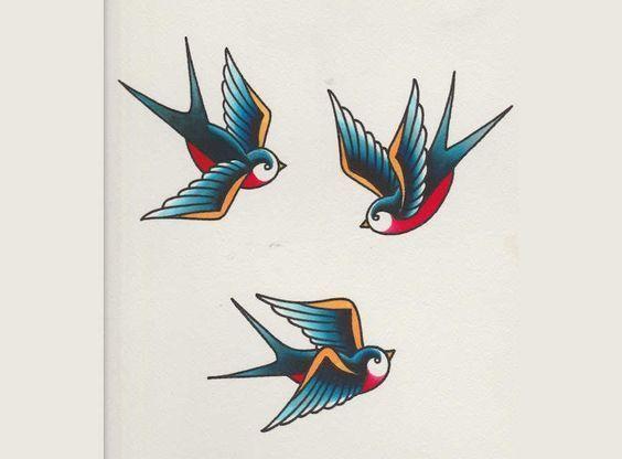 Resultado de imagen de mini tatuajes de golondrinas