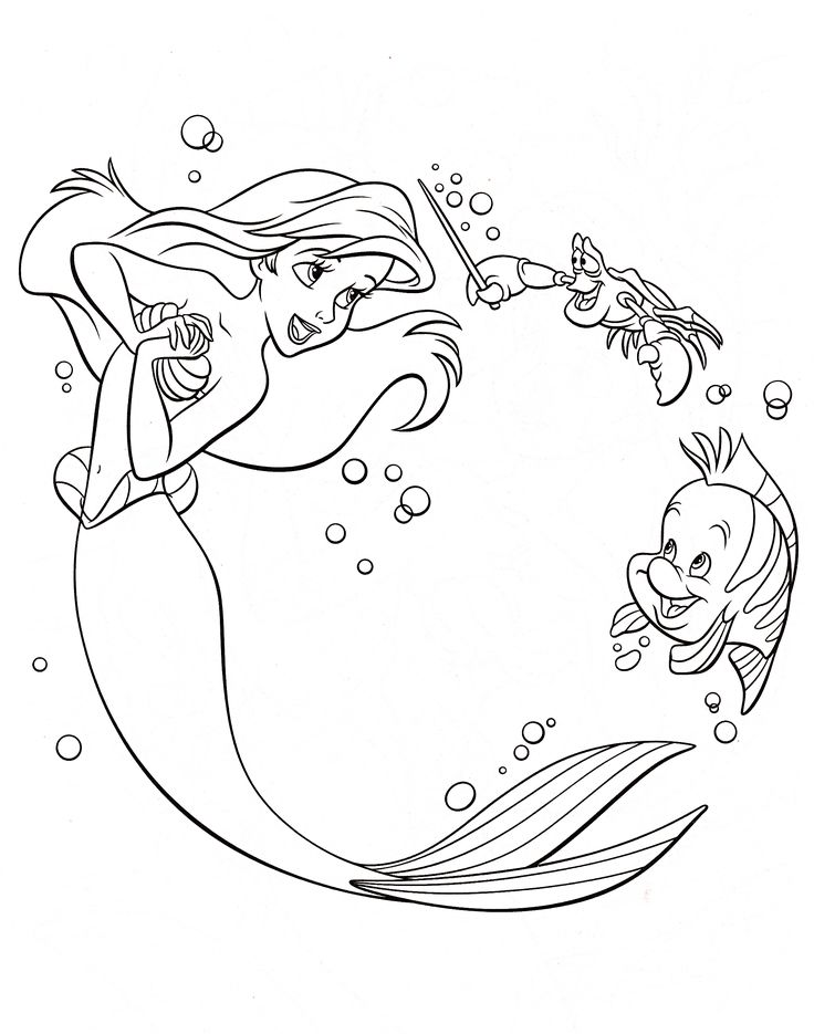 380 best Ariel coloring pages images on Pinterest | Little mermaids ...