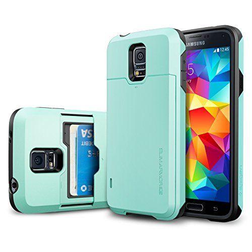 Galaxy S5 Case, Spigen® [Card Holder] Samsung Galaxy S5 Case [Armor] [Slim Armor Card Slider CS Mint] Slim Fit Dual Layer Protective with Slide Card Holder Back Plate Wallet Case for Galaxy S5 / Galaxy SV (2014) - CS Mint (SGP10984), http://www.amazon.com/dp/B00JW672JU/ref=cm_sw_r_pi_awdl_pov6ub0XC42PX
