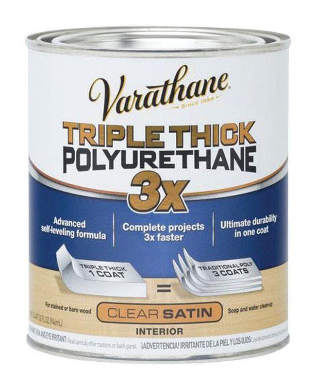 Varathane 284473 Triple Thick Semi Transparent Polyurethane Clear Satin Varathane Varathane Wood Stain Rustoleum