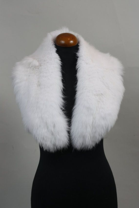 Luxury gift/Fox Fur/ White Collar  Women's/wedding or by skffurs