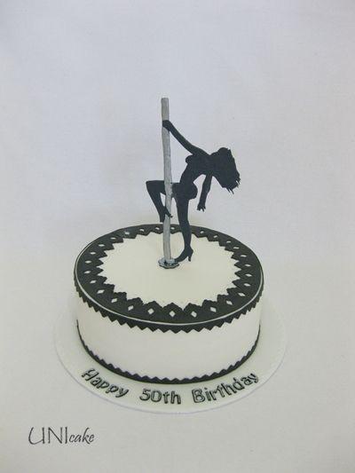 A80.  Tankotanssi-aiheinen kakku.  Pole dance cake.