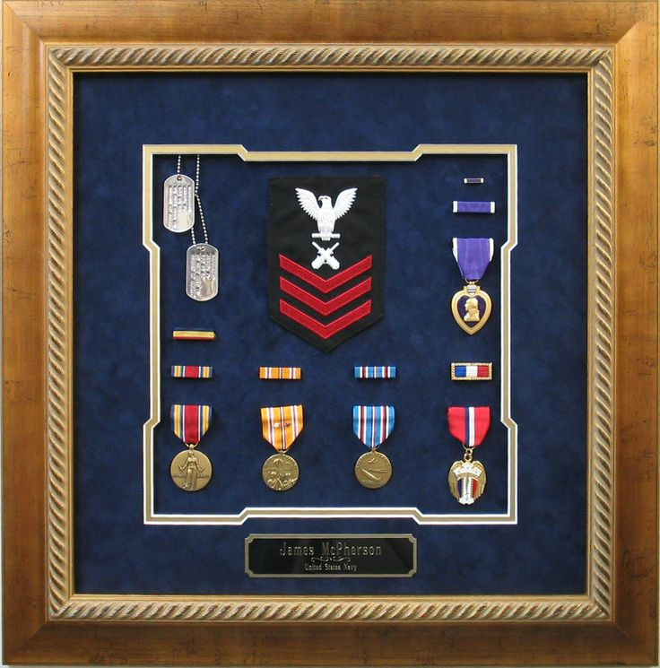 a military collage of medals - Military Frames
