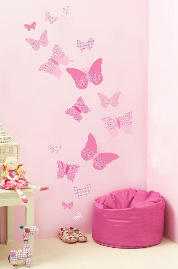 Lovely m dchenzimmer wandsticker rosa schmetterlinge spielzeuge