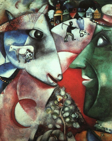 Marc Chagall - I and the Village, 1911 - oil on canvas