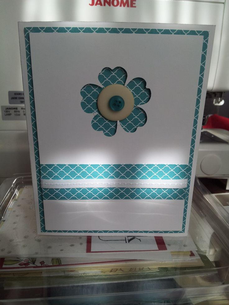Cardstock: Whisper White DSP Bermuda Bay Whisper White Ribbon Bermuda Bay Brights Button  Flower Shop Punch