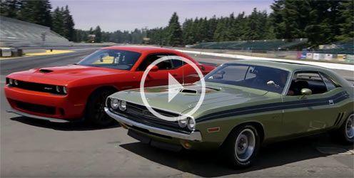 2015 Dodge Challenger Hellcat vs 1971 Dodge Challenger Hemi Drag Race Click to…
