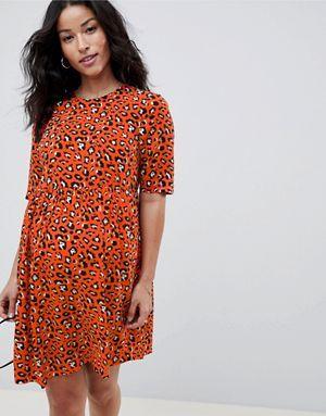 5db8b6067160a ASOS DESIGN Maternity leopard printed smock dress | miki | Dresses ...