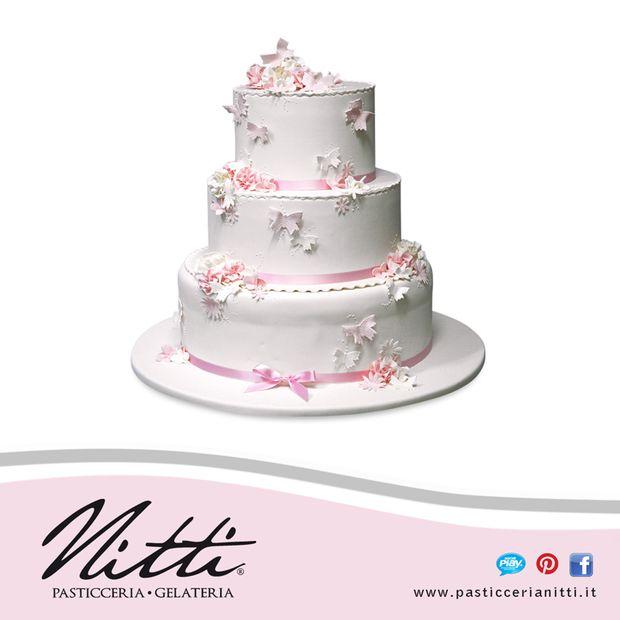 torta rosa farfalle