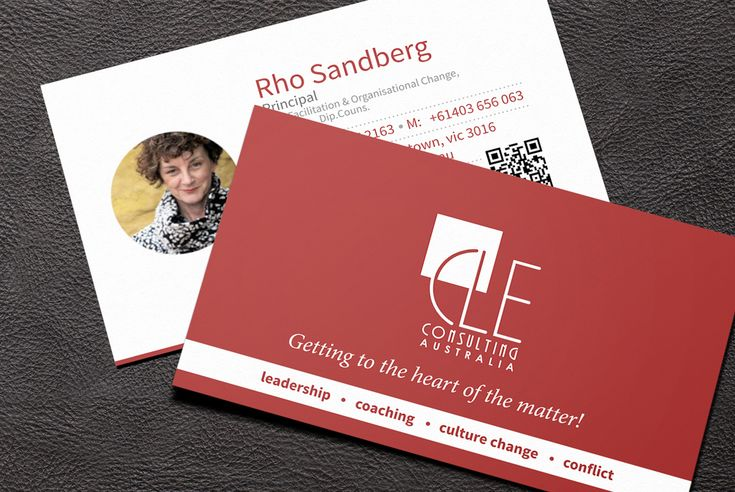 Business card design for a coaching business.