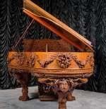 A True Masterpiece: The Antique Blasius & Sons Custom Carved Grand Piano | The Antique Piano Shop