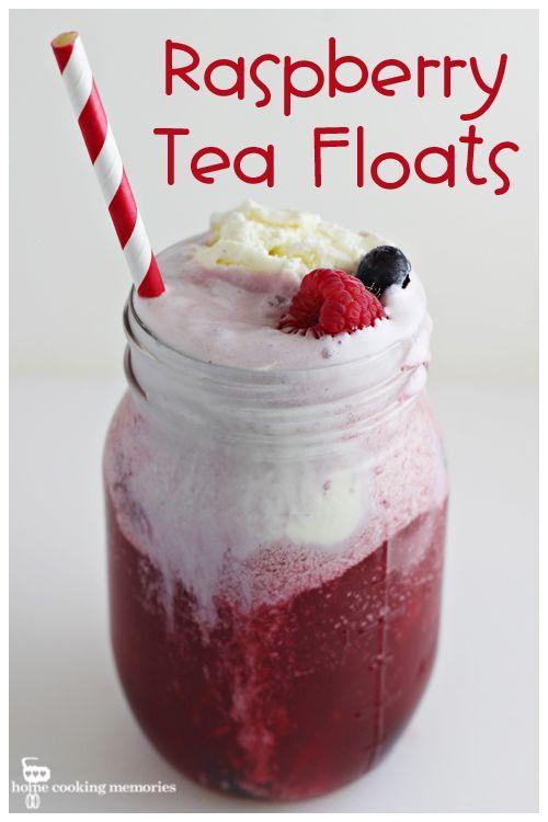Raspberry Tea Floats